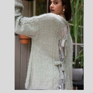 POL Sweaters - Lace insert Cable design Sweater~New Arrival